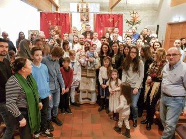Părintele Episcop Macarie a botezat doi prunci în Ajun de Anul Nou, la Stavanger, Norvegia.