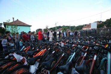 """PS Macarie la Copșa Mică: """"Oferim 100 de biciclete copiilor sărmani pentru cei 100 de ani de Românie"""""""