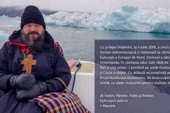"""PS Macarie din Groenlanda: """"Port pe umăr traista de pelerin ca pe o Cruce a slujirii"""""""