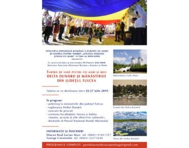 Episcopia Europei de Nord organizează o tabără de vară pentru cei mari și cei mici, în Dobrogea și Delta Dunării