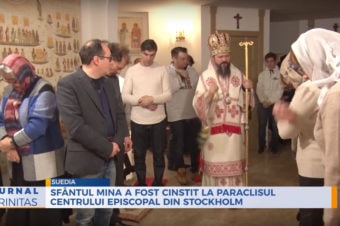 Sfântul Mina a fost cinstit la paraclisul Centrului Episcopal din Stockholm