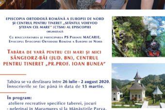 A patra ediție a Taberei de vară pentru familiile din Episcopia Europei de Nord, Sângeorz-Băi, 26 iulie – 2 august 2020