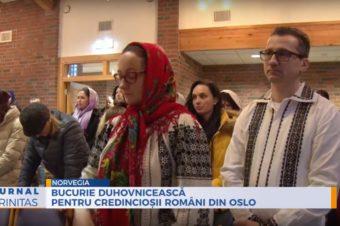 Bucurie duhovnicească pentru credincioșii români din Oslo (preluare TRINITAS TV)