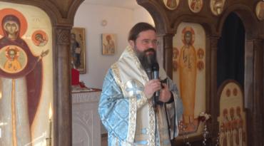 """PS Episcop Macarie: """"Întreaga armată a cerului e cu noi!"""" Privegherea de toată noaptea la Cinstirea Icoanei Maicii Domnului """"Eu sunt cu voi și nimeni împotriva voastră"""" de la Centrul Episcopal din Stockholm, 28 martie 2020"""