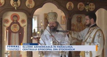 Slujire arhierească în Paraclisul Centrului Episcopal din Stockholm