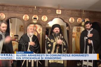 Slujiri arhierești în comunitățile românești din Stockholm și Jonkoping