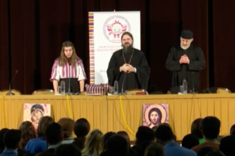 """""""Love answers every question"""" – His Grace Macarie, Bishop of Northern Europe. A conference organized by ASCOR in Aula Magna of the Faculty of Law in Bucharest, March 22, 2017"""