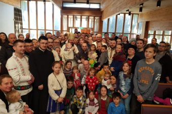"His Grace Bishop Macarie Drăgoi at the Liturgy in Stavanger, Norway: ""When we are on the ladder of spiritual endeavors we should not look down or delay too much in the middle because it may cause us confusion or dizziness"""