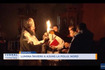 Lumina Învierii a ajuns la Polul Nord