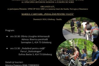 """Marșul bicicletelor """"Pedalând pentru viață"""" în Suedia"""