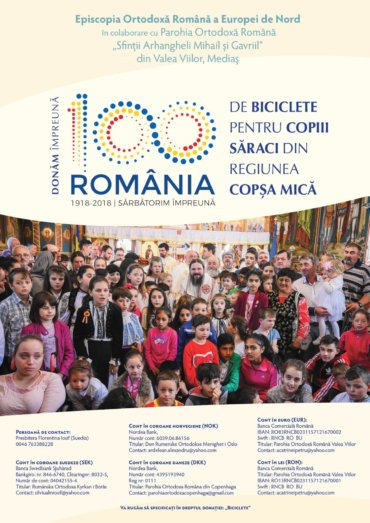We celebrate the Centenial by giving 100 bicycles to the poor children in Romania. June – the Children's month in the Diocese of Northern Europe