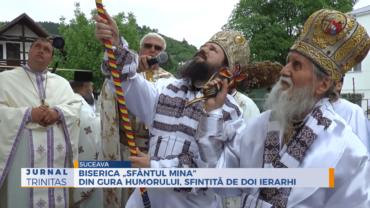 """Biserica """"Sfântul Mina"""" din Gura Humorului, sfințită de doi ierarhi"""