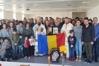 His Grace Bishop Macarie installed the new parish priest for the Romanian Parish in the Faroe Islands