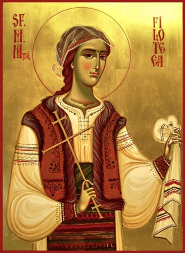 Rugăciune către Sfânta Muceniță Filofteia de la Curtea de Argeș, împreuna însoțitoare pe cale a copilașilor sărmani și a celor plecați prematur din această viață (a Episcopului Macarie Drăgoi)