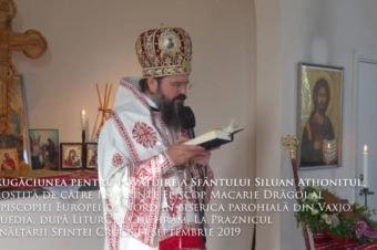 Rugăciunea pentru povățuire a Sfântului Siluan Athonitul, rostită de către PS Părinte Episcop Macarie Drăgoi al Episcopiei Europei de Nord în biserica parohială din Växjö, Suedia, după Liturghia de hram, La Praznicul Înălțării Sfintei Cruci, 14 septembrie 2019