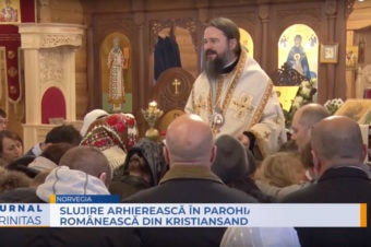 Slujire arhierească în Parohia românească din Kristiansand (video)