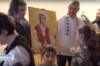 Sfânta Filofteia, ocrotitoarea parohiei românești din Bergen (video)
