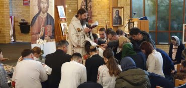 """His Grace Father Bishop Macarie: """"We need to wash our eyes constantly with the blessed water of the Holy Spirit that flows incessantly into the Church so that we may have a clean sight"""""""