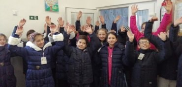 """The children of Father Dan Damaschin received the """"Warm Boots"""" offered by the Diocese of Northern Europe"""