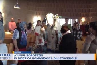 Ajunul Bobotezei în biserica românească din Stockholm