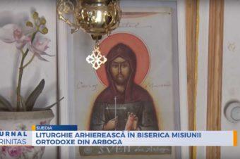 Liturghie arhierească în biserica Misiunii Ortodoxe din Arboga (preluare TRINITAS TV)