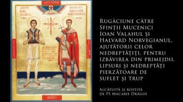 SFINȚII ZILEI: Rugăciune către Sfinții Mucenici Ioan Valahul și Halvard Norvegianul, ajutătorii celor nedreptățiți, pentru izbăvirea din primejdii, lipsuri și nedreptăți pierzătoare de suflet și trup (a Episcopului Macarie Drăgoi)