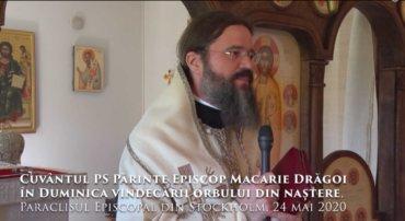 Cuvântul PS Părinte Episcop Macarie Drăgoi în Duminica vindecării orbului din naștere, Paraclisul Episcopal din Stockholm, 24 mai 2020