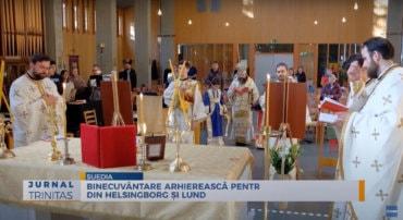 Binecuvântare arhierească pentru românii din Helsingborg și Lund (știre TRINITAS.TV)