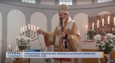 Credincioșii români din Tromso s-au rugat împreună cu ierarhul lor (preluare TRINITAS.TV)