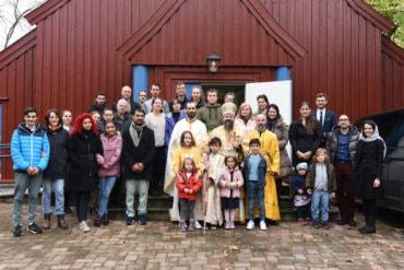 Părintele Episcop Macarie al Europei de Nord în slujire misionară la Trondheim și Aalesund în Norvegia, 10-11 octombrie 2020