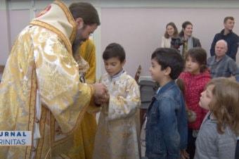 """Liturghie arhierească în Parohia """"Sfântul Voievod Ștefan cel Mare"""" din Trondheim, Norvegia"""