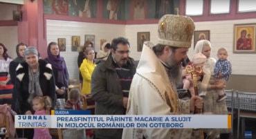 Preasfințitul Părinte Macarie a slujit în mijlocul românilor din Goteborg (preluare TRINITAS.TV)