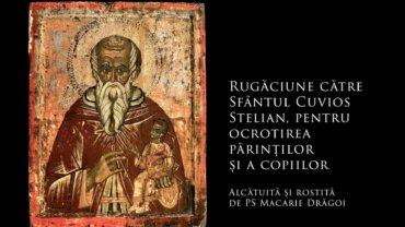 SFINȚII ZILEI: Rugăciune către Sfântul Cuvios Stelian, pentru ocrotirea părinților și a copiilor (a Episcopului Macarie Drăgoi)