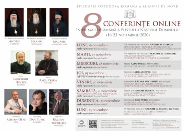 """Conferința online – PS Părinte Episcop Macarie al Europei de Nord, """"Vestea cea bună a Nașterii Domnului într-o lume bulversată"""", luni, 23 noiembrie 2020"""