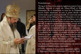 ÎNDEMN LA RUGĂCIUNE PENTRU FAMILIA SMICALĂ DIN FINLANDA