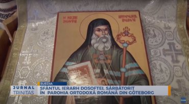 Sfântul Ierarh Dosoftei, sărbătorit în Parohia Ortodoxă Română din Göteborg (preluare TRINITAS.TV)
