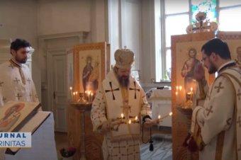 Liturghie Arhierească de hram, în mijlocul românilor din orașul Uppsala (preluare TRINITAS.TV)