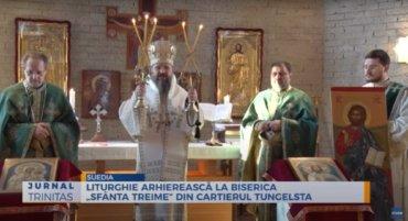 """Liturghie arhierească la Biserica """"Sfânta Treime"""" din cartierul Tungelsta (preluare TRINITAS.TV)"""