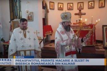 Preasfințitul Părinte Macarie a slujit în biserica românească din Kalmar (preluare TRINITAS.TV)