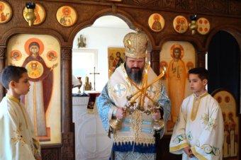 Astăzi, 25 martie 2021, de Praznicul Bunei Vestiri, Preasfințitul Părinte Episcop Macarie Drăgoi al Episcopiei Europei de Nord a săvârșit Dumnezeiasca Liturghie a Sfântului Ioan Gură de Aur unită cu Vecernia, în Paraclisul Episcopal din Stockholm