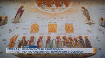 Binecuvântare arhierească pentru credincioșii români din Stockholm (preluare TRINITAS.TV)