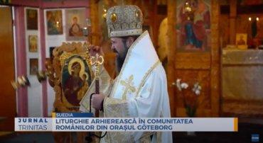 Liturghie arhierească în comunitatea românilor din orașul Göteborg (preluare TRINITAS.TV)