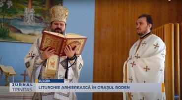 Liturghie Arhierească în orașul Boden din Suedia (preluare TRINITAS.TV)
