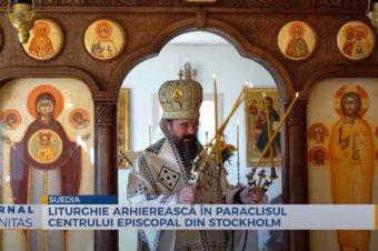 Liturghie arhierească în Paraclisul Centrului Episcopal din Stockholm (preluare TRINITAS.TV)
