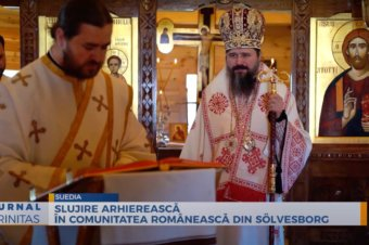 Slujire arhierească în comunitatea românească din Sölvesborg (preluare TRINITAS.TV)