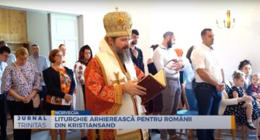 Liturghie arhierească pentru românii din Kristiansand (preluare TRINITAS.TV)