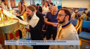 Liturghie arhierească pentru românii din Stavanger (preluare TRINITAS.TV)