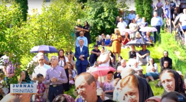 Liturghie arhierească la Mănăstirea Rebra-Parva (preluare TRINITAS.TV)