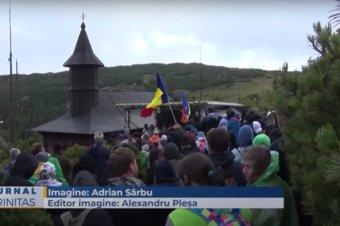 Sfânta Liturghie a fost săvârșită de doi ierarhi pe Muntele Ceahlău (preluare TRINITAS.TV)