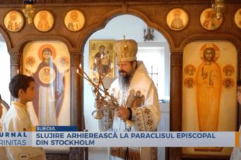 Slujire arhierească la Paraclisul Episcopal din Stockholm (preluare TRINITAS.TV)